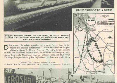 1934 16-17 06. les 24 h. du Mans. Amilcar C.A. Martin-Pousse 20ème, n°42, 2094km, de Gavardie-Duray 14ème n°32, 2271, Poiré-Robail 22ème, 2008. ab Boursin-Nadeau. 0
