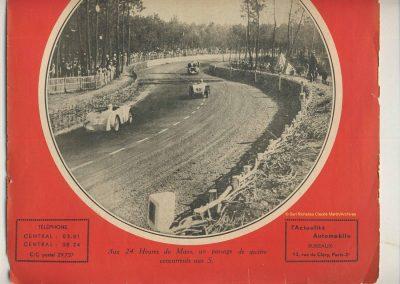 1934 16-17 06. les 24 h. du Mans. Amilcar C.A. Martin-Pousse 20ème, n°42, 2094km, de Gavardie-Duray 14ème n°32, 2271, Poiré-Robail 22ème, 2008. ab Boursin-Nadeau. 1