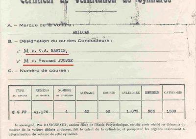 1934 17-18 06. les 24 h. du Mans. Amilcar C.A. Martin-Pousse 20ème, n°42, 2094km, de Gavardie-Duray 14ème n°32, 2271, Poiré-Robail 22ème, 2008. ab Boursin-Nadeau. 5 (Copier)