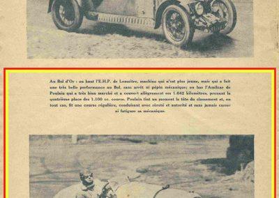 1934 19-21 05 Le Bol d'Or, Saint-Germain-en-Laye. Amilcar C.A. Martin n°42, Poulain 2ème n°56 et Poiré n° 67, 4ème. 19