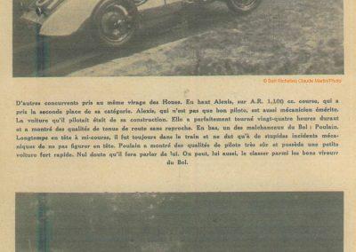 1934 19-21 05 Le Bol d'Or, Saint-Germain-en-Laye. Amilcar C.A. Martin n°42, Poulain 2ème n°56 et Poiré n° 67, 4ème. 20
