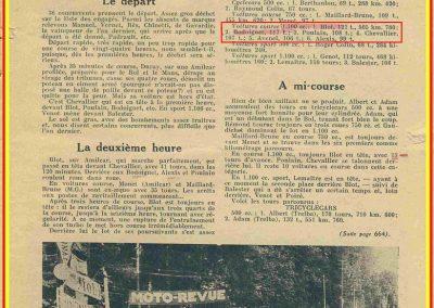 1934 19-21 05 Le Bol d'Or, Saint-Germain-en-Laye. Amilcar C.A. Martin n°42, Poulain 2ème n°56 et Poiré n° 67, 4ème. 3