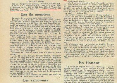 1934 19-21 05. Le Bol d'Or, Saint-Germain-en-Laye. Amilcar C.A. Martin n°42, Poulain 2ème n°56 et Poiré n° 67, 4ème. 8