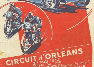 1934 27 05 Circuit d'Orléans. Amilcar 1500 MCO C. A. Martin, 1100cc Mestivier, Blot, Scaron, Elliével. 1