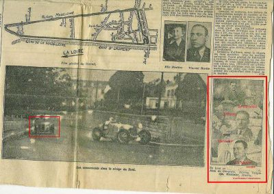 1934 27 05 Circuit d'Orléans. Amilcar 1500 MCO C. A. Martin, 1100cc Mestivier, Blot, Scaron, Elliével. 3