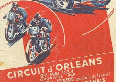 1934 27 05 Circuit d'Orléans. Amilcar C.A. Martin-Pousse, Mestivier, Boursin, Pouponneau, Elievel C6-4, Scaron C.6. 1