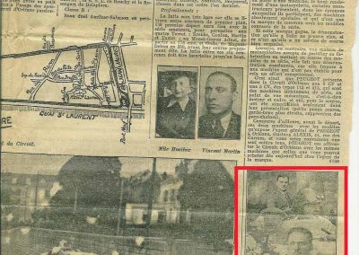 1934 27 05 Circuit d'Orléans. Amilcar C.A. Martin-Pousse, Mestivier, Boursin, Pouponneau, Elievel C6-4, Scaron C.6. 4