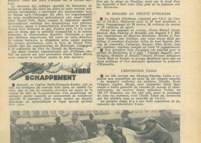 1934 27 05 Circuit d'Orléans. Amilcar C.A. Martin-Pousse, Mestivier, Boursin, Pouponneau, Elievel C6-4, Scaron C.6. 6