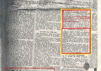 1934 27 05 Circuit d'Orléans. Amilcar C.A. Martin-Pousse, Mestivier, Boursin, Pouponneau, Elievel C6-4, Scaron C.6. 8