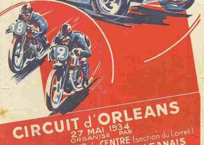 1934 27 05 Circuit d'Orléans. Amilcar, C.A. Martin Pousse, de Gavardie, Scaron, Mestivier, 6cyl.-4 et MCO. Blot. 1