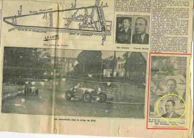 1934 27 05 Circuit d'Orléans. Amilcar, C.A. Martin Pousse, de Gavardie, Scaron, Mestivier, 6cyl.-4 et MCO. Blot. 5