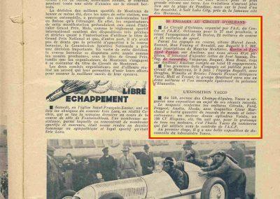 1934 27 05 Circuit d'Orléans. Amilcar, C.A. Martin Pousse, de Gavardie, Scaron, Mestivier, 6cyl.-4 et MCO. Blot. 6