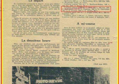 1934 Bol d'Or. Equipe et Amilcar C.A. Martin, n°54 Poiré et 57 Poulain. 2