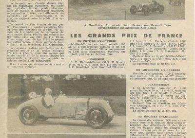 1935 -- 06 les GP de France par le MCF. Amilcar MCO Mestivier 1er de la 5ème course et ab. de Blot. 1