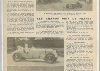 1935 -- 06 les GP de France par le MCF. Amilcar MCO Mestivier 1er de la 5ème course et absence de Blot. 1