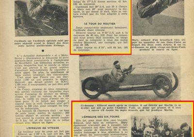 1935 14 04 Critérium de l'Actualité Automobile Amilcar C6 Spécial C.A. Martin Le Mans, 1er Ellievel au volant_