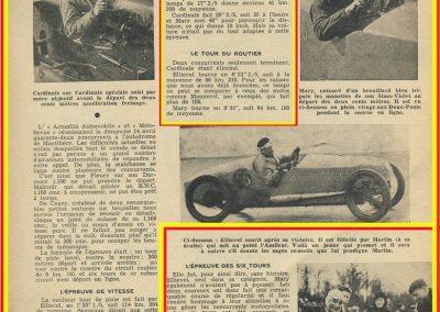 1935 14 04 Critérium l'Actualité Automobile, Critérium, 1er Ellievel (au volant) Amilcar C6-4 Spécial C.A. Martin-Le Mans à gauche. Epreuves des 200 m. D.A et arrivée arrêtée. 2