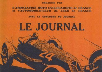 1935 18-19 05 Bol d'Or à Saint-Germain. Amilcar 6cyl.-4 C.A. Martin, de Gavardie, Horvilleur, Poulain, Eliével, Blot et C.A. Martin sur Simca-Fiat Coppa d'Oro. 1