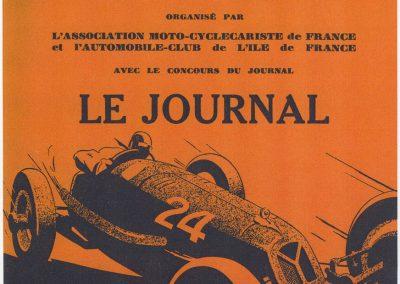 1935 19 05 Bol d'Or Amilcar C6-4 C.A. Martin, de Gavardie, Horvilleur, Poulain, Bodoignet, Ellievel. Grignard. Blot. 01