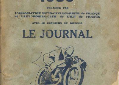 1935 19 05 Bol d'Or Amilcar C6-4 C.A. Martin, de Gavardie, Horvilleur, Poulain, Bodoignet, Ellievel. Grignard. Blot. 1