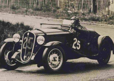 1936 01 05 Bol d'Or, Simca-Fiat, 3ème Sport C.A. Martin-rouge n°25, 1er Gordini-blanc n°20, Zanardi-bleu n°22, 4eme Horvilleur Amilcar, 1er Course M.B. MG, 2ème Grignard Amilcar. 4