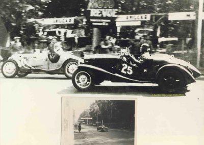 1936 01 05 Bol d'Or, Simca-Fiat, 3ème Sport C.A. Martin-rouge n°25, 1er Gordini-blanc n°20, Zanardi-bleu n°22, 4eme Horvilleur Amilcar, 1er Course M.B. MG, 2ème Grignard Amilcar. 7
