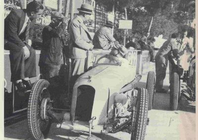 1936 04 11 à Monaco, Mestivier (Maurice) déclare forfait sur l'Amilcar MCO 1100cc !. 1