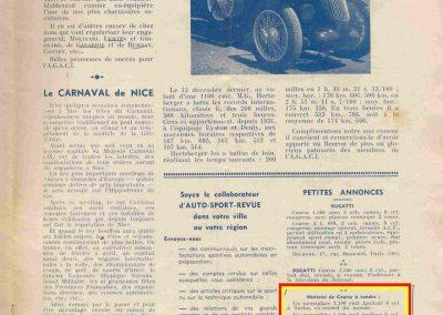 1936 06 12 Annonce C.A. Martin, Ventes des MCO, 1100 et 1500cc Revue Auto-Sport, AGACI. 1