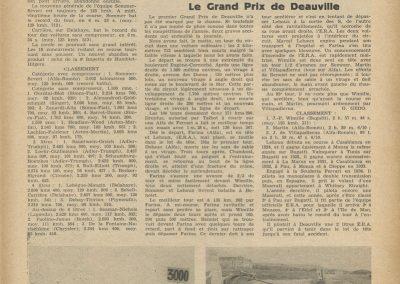 1936 -- 06 le 1er GP de Deauville. DC de Chambost et Le Houx E.R.A. GP Sao-Polo accident Hellé Nice. 1