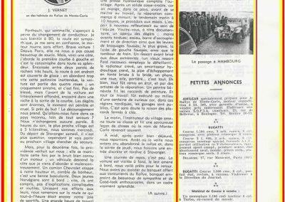 1936 -- 11 Souvenirs de Vernet-Porthault du Rallye de Monte-Carlo de 1934. 2