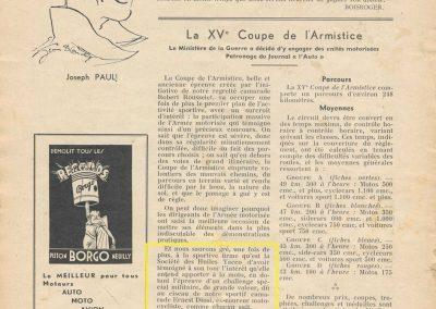 1936 20 09 Coupe d'Automne, C.A. Martin Simca-Fiat 3ème des 1100. Pollédry Alfa 1er des 2000 et 2ème au Critérium. La Coupe de Vitesse 1100, Grignard, Blot et Mestivier. 10