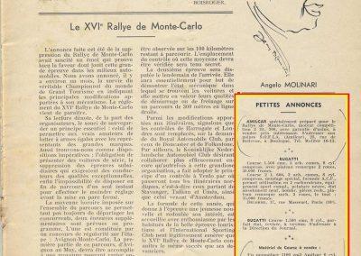 1936 20 09 Coupe d'Automne, C.A. Martin Simca-Fiat 3ème des 1100. Pollédry Alfa 1er des 2000 et 2ème au Critérium. La Coupe de Vitesse 1100, Grignard, Blot et Mestivier. 12
