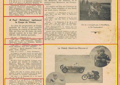 1936 20 09 Coupe d'Automne, C.A. Martin Simca-Fiat 3ème des 1100. Pollédry Alfa 1er des 2000 et 2ème au Critérium. La Coupe de Vitesse 1100, Grignard, Blot et Mestivier. 7