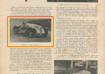 1936 20 09 Salon Auto de Paris, Delahaye Roadster Figoni, l'Amilcar Pégase 2500cc et Bugatti Roadster 57 S,. 1