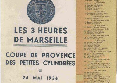 1936 24 05 les 3 Heures de Marseille-Miramas, ''Coupe de Provence'' des petites cylindrées. C.A. Martin Amilcar MCO n° 56. 1_