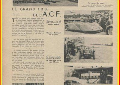 1936 28 06 G.P. de l'A.C.F. à Montlhéry. 20ème C.A. Martin Fiat Coppa d'Oro. Veyron-Williams 6ème. 1