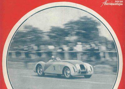 1936 28 06 GP ACF. C.A. Martin 23ème sur Simca-Fiat 998cc n°24, Coppa d'Oro devant Lord Howe et Camérano. 1er Wimille-Sommer Bugatti 57, 3300cc passant à plus de 230 km-h. 0