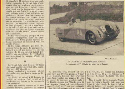 1936 28 06 GP ACF. C.A. Martin 23ème sur Simca-Fiat 998cc n°24, Coppa d'Oro devant Lord Howe et Camérano. 1er Wimille-Sommer Bugatti 57, 3300cc passant à plus de 230 km-h. 01
