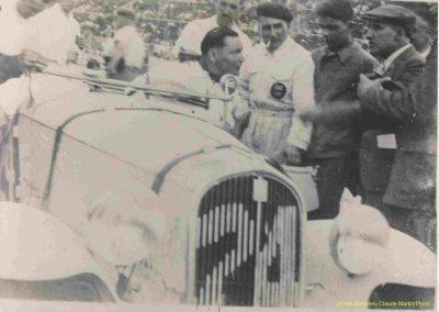 1936 28 06 GP ACF. C.A. Martin 23ème sur Simca-Fiat 998cc n°24, Coppa d'Oro devant Lord Howe et Camérano. 1er Wimille-Sommer Bugatti 57, 3300cc passant à plus de 230 km-h. 02