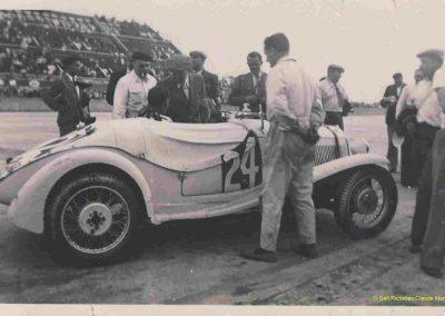 1936 28 06 GP ACF. C.A. Martin 23ème sur Simca-Fiat 998cc n°24, Coppa d'Oro devant Lord Howe et Camérano. 1er Wimille-Sommer Bugatti 57, 3300cc passant à plus de 230 km-h. 03
