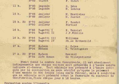 1936 28 06 GP ACF. C.A. Martin 23ème sur Simca-Fiat 998cc n°24, Coppa d'Oro devant Lord Howe et Camérano. 1er Wimille-Sommer Bugatti 57, 3300cc passant à plus de 230 km-h. 13