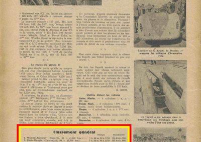 1936 28 06 GP ACF. C.A. Martin 23ème sur Simca-Fiat 998cc n°24, Coppa d'Oro devant Lord Howe et Camérano. 1er Wimille-Sommer Bugatti 57, 3300cc passant à plus de 230 km-h. 4