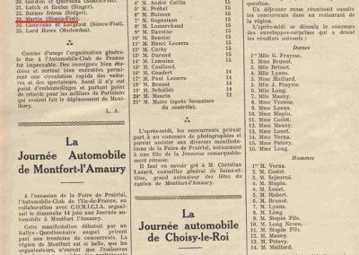 1936 28 06 GP ACF. C.A. Martin 23ème sur Simca-Fiat 998cc n°24, Coppa d'Oro devant Lord Howe et Camérano. 1er Wimille-Sommer Bugatti 57, 3300cc passant à plus de 230 km-h. 8