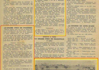 1936 29 06 GP de Picardie. Blot Amilcar Monoplace ab. au 4ème tours. de Gavardie- 8ème. 3-E.R.A., 1er Bira, Farfield, Howe et 4ème Evoy-Maserati. 1