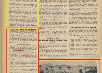 1936 29 06 GP de Picardie. Blot Amilcar Monoplace ab. au 4ème tours. de Gavardie- 8ème. 3-E.R.A., 1er Bira, Farfield, Howe et 4ème Evoy-Maserati. 2