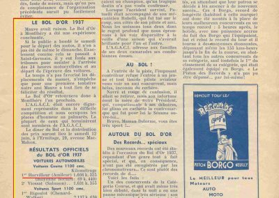 1937 09 09 Bol d'Or, Montlhéry, 1er Course Horvilleur Amilcar C6-4. 1