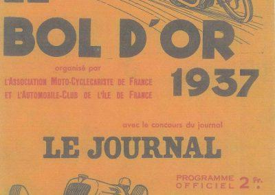 1937 15-17 05 Bol d'Or, le 16ème à Montlhéry. 1er Cat. Amilcar Horvilleur, Georges Grigard au volant de l'Amilcar Monoplace (ex; Blot). 1_