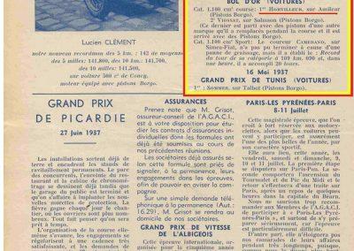 1937 15-17 05 Bol d'Or, le 16ème à Montlhéry. 1er Cat. Amilcar Horvilleur, Georges Grigard au volant de l'Amilcar Monoplace. 10_