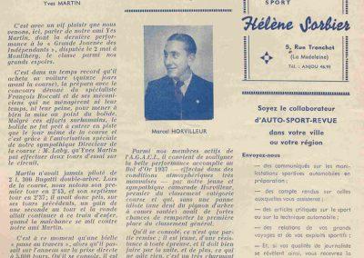 1937 15-17 05 Bol d'Or, le 16ème à Montlhéry. 1er Cat. Amilcar Horvilleur, Georges Grigard au volant de l'Amilcar Monoplace. 13_