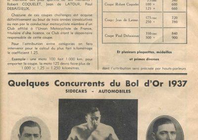 1937 17 05 Bol d'Or, Amilcar-Grignard, Horvilleur, Burmand, de Burnay, Simca- Gordini, Zanardi, Camérano, Maillard-Brune, Chenard-Rigoulot. 7